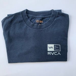 RVCA shirt size s small color navy blue